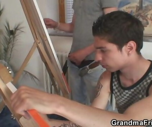 Old Granny Pleases 2 Youthful Painters