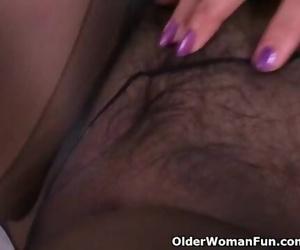 Latina Granny Maribel cant Manage her Sex Urge in Nylon..