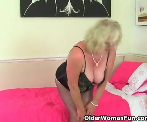British Granny Claire Knight is Pleasing her old Vagina