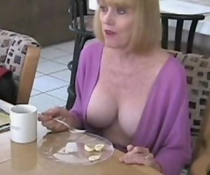 Interrupting Granny in the Kitchen with Hookup