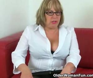 British Granny Trisha cant Control her Sexual Desire