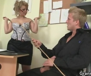 Hot Office Lovemaking with Mature Mega-bitch
