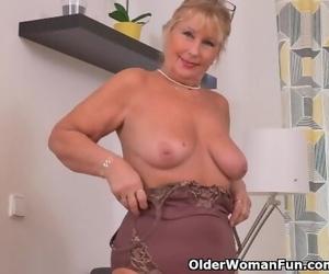 Euro Granny Gigi needs to Caress one out
