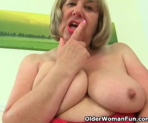 British Granny Trisha and Smallish her Fake penises