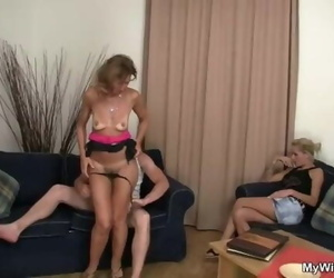 Old Mother Enjoys Youthfull Dick