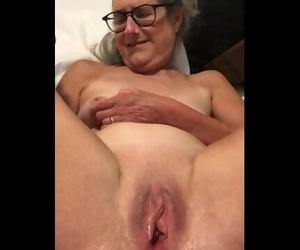 Dildo Play Gams Vagina Spread Enrapture 60 Yr old MILF..