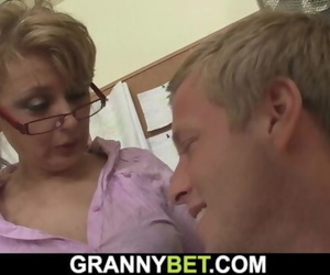 He Seduces and Fucks Chesty old Mature Office Chick