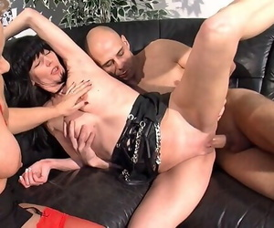 Amateur Duo have a 3 way with Mature Helper