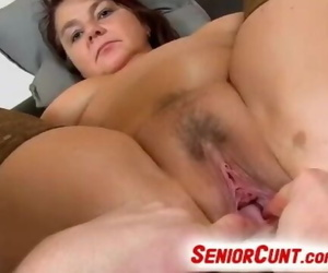 Fat Chick Eva Aged Beaver Fingered and Played POV Zoom
