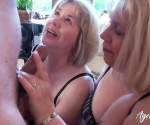 AgedLovE trio Mature Girls Occupying one Shaft