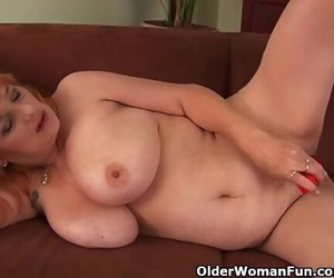 Sadism Grandma with Big Boobs has Solo Hook-up with a..