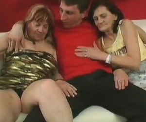 Two Grannies Pounding Younger Man