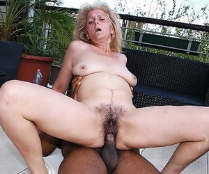 Hairy 72 Years old Granny first Time Breezies