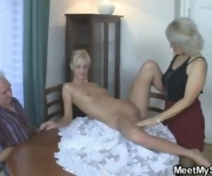 Girlfriend in Threesome with her Beau Parents