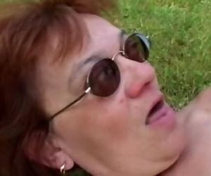 Granny with Huge Nut Gets Boy Hard