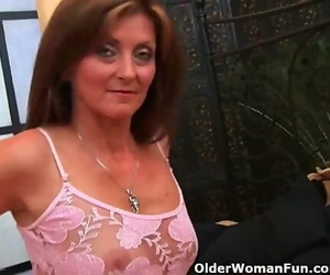 Grandma Enjoys Hot Jizz on her Face