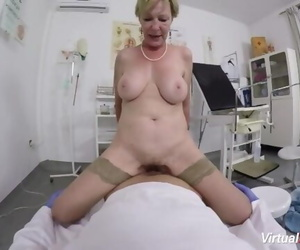 Hairy Granny POV Bitchy by her Doctor