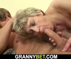 Well Hung Stranger Fucks old Grandma on the Couch
