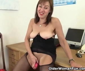 British Office Woman needs Orgasmic Ease