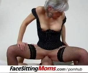 Hot Legs Mature Girl Beate and her Servant Facesitting Buddy