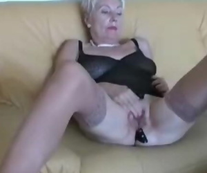 Older Lady in Sexy Undergarments