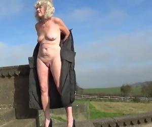 Amateur Granny Nude in Public 1