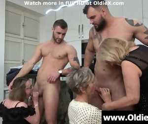 Grannies Attack Young Shaft