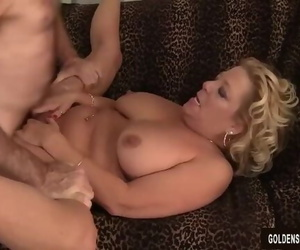 Grandma Takes a Fat Dick and Jizz in her Gullet