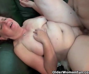 Chubby Granny Gets Porked on the Couch
