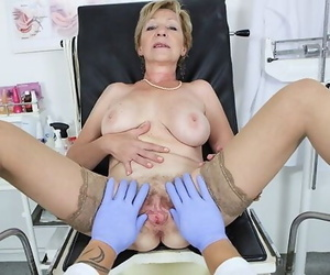 Hairy 71 Years old Mother POV Fucked by her Doctor