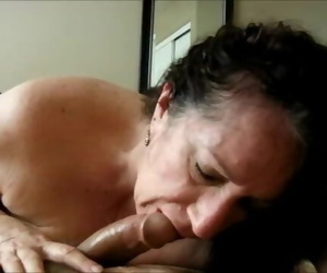 Granny Amateur Butt cheeks POV and Gulp Jism