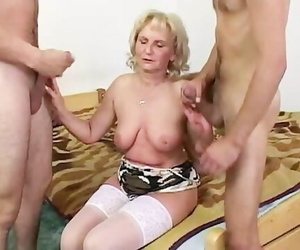 Computer Geeks Gets Heated up by a Mature Blonde