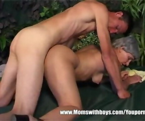 Hot Granny Cougar with Brief Grey Hair and Ideal Bod Nailed