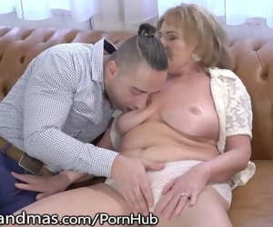 Mature Gets her Bent Blown and Youthful Hard-on Injected!