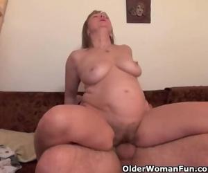 Grandma Gets her Hairy Vagina Fucked Deep