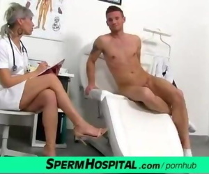 CFNM Penis Medical Exam with Sexy Czech Mummy Doctor Beate