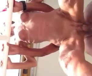 Skinny Wrinkled Granny Fucked from behind