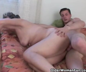 Cock Thirsty Grandmother Enjoys Anal Sex