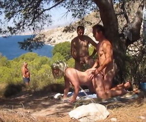 Hot Granny Dogging in the Forest and Bitchy from behind