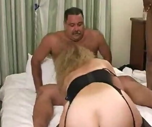 Hot Mustache Daddy-Bear in a Group Penetrate