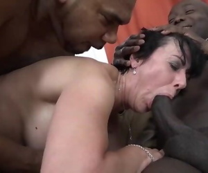 Granny Threesomes with 2 Black Men Tedious Peckers in her..