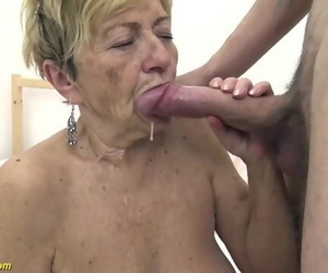 Furry 90 Years old Granny Plowed by her Toyboy