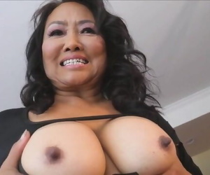 Thai Granny Plays with her Knockers and Pussy
