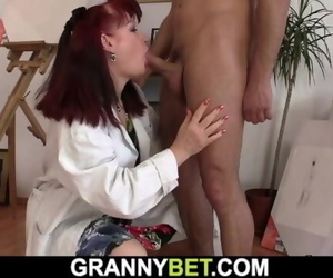 Hot Redhead old Mature Lady and Endowed
