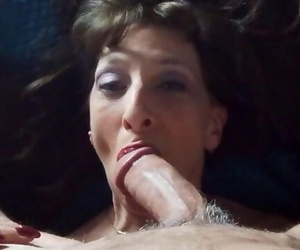 Mind-blowing Granny Gulps Cum after Doggystyle Romping