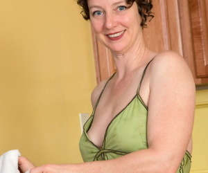Mature housewife Artemisia unveils her hooters and sadism..