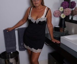 Spanish housewife Conchita gets completely bare &..