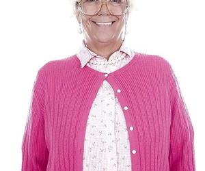 Granny pornstar Karen Summer modelling fully clothed..