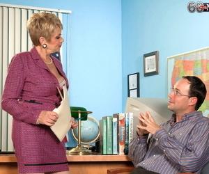 Over 60 secretary Lin Boyde seducing her junior co-worker..