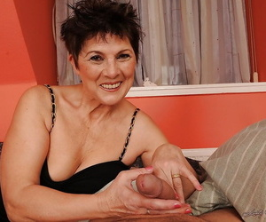 Horny granny in stockings Margo T. gets butt bitchy and..
